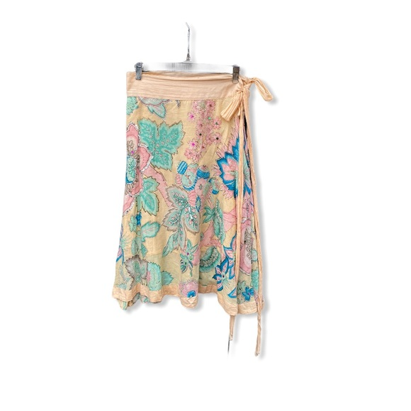 Sweet by Miss Me Floral Cotton Wrap Skirt